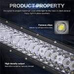 "BARRA LED OFF ROAD CURVA 480W 42"" CREE LEDS TRIPLA FILEIRAS LED"
