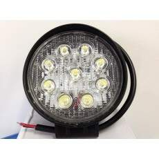 Par de Farolete Milha Redondo Super Led Off Road 27W 6000K Alta Potência