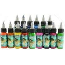 Kit com 15 Cores Electric Ink 30ml