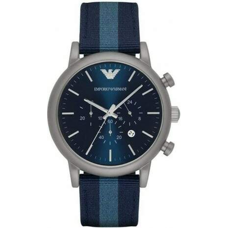 Relógio Emporio Armani Men\\\'s Chronograph Watch with Quartz