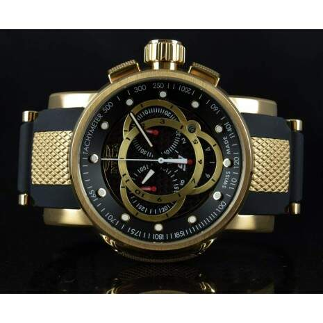 Relógio Invicta S1 Rally Cód. 0896 - Preto Gold - Original