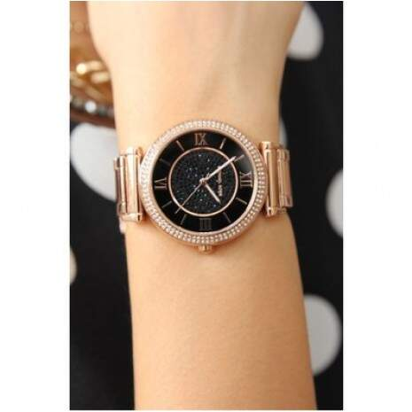 Relógio Michael Kors Mk3356 Rose Black Original