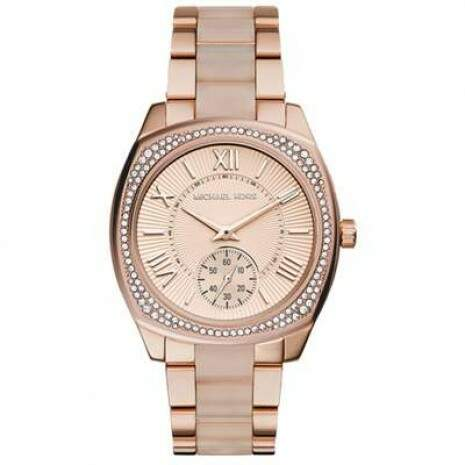 Relogio Michael Kors Mk6135 Rose Strass Original C Cx