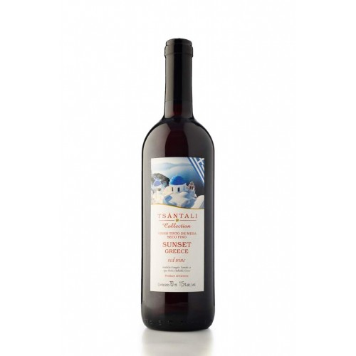 TSÁNTALI COLLECTION SUNSET GREECE Vinho GREGO Tinto de Mesa Seco 750 ml