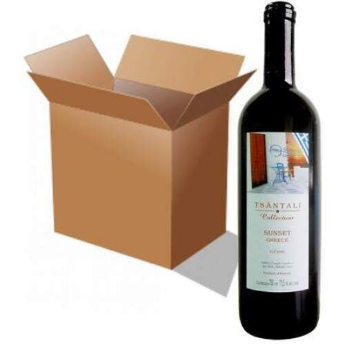 Caixa TSÁNTALI COLLECTION SUNSET GREECE Vinho GREGO Tinto Seco com 12 Garrafas de 750 ml