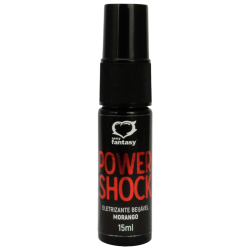 Power Shock Gel Eletrizante Beijável  Morango 15 ml