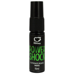 Power Shock Gel Eletrizante Beijável  Menta 15 ml