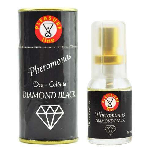Colônia masculina à base de feromônios - DEO PHEROMONAS DIAMOND BLACK - PLEASURE