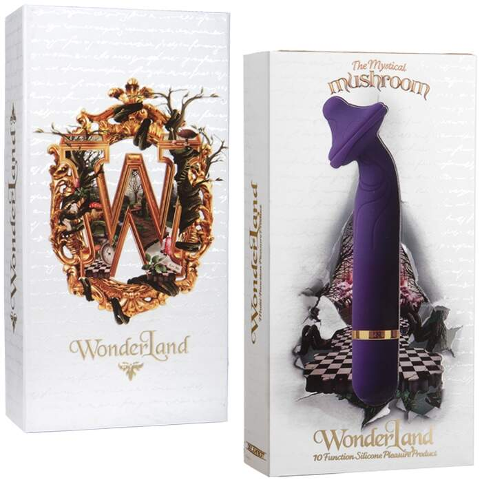 Vibrador 10 velocidades cogumelo - WONDERLAND THE MYSTICAL MUSHROOM - DOC JOHNSON
