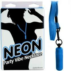 Colar com cápsula - NEON PARTY VIBE NECKLACE BLUE - PIPEDREAM
