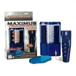 Masturbador com tubo vibratório - MAXIMUS POWER STROKER - CALIFORNIA EXOTIC
