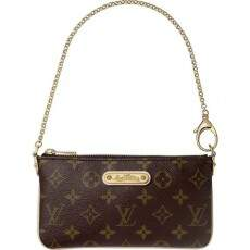 Bolsa Transversal Louis Vuitton Milla Clutch Monogram Canvas