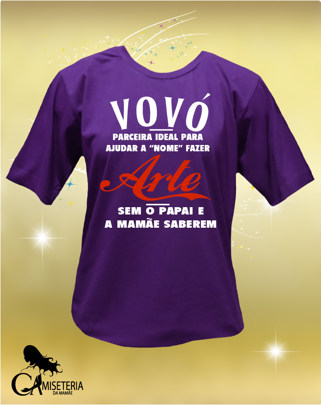 CAMISETA VOVÓ PARCEIRA IDEAL
