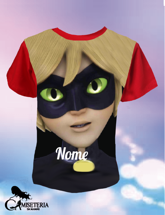 CAMISETA / BODY  CAT NOIR