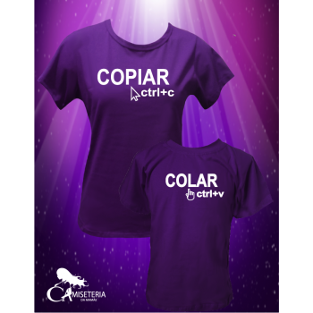 KIT CAMISETAS - COPIA e COLA