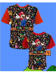 KIT SUPER MARIO ALL - TAL PAI/MÃE