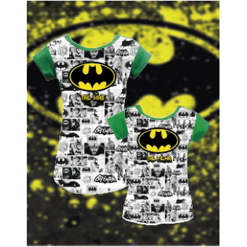 KIT CAMISETA / VESTIDO BATMAN