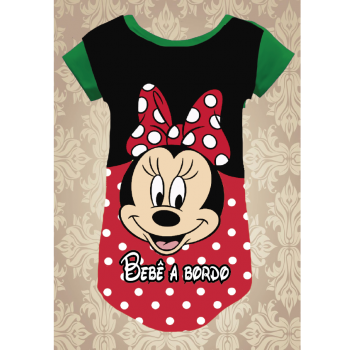 CAMISETA MINNIE BEBÊ A BORDO