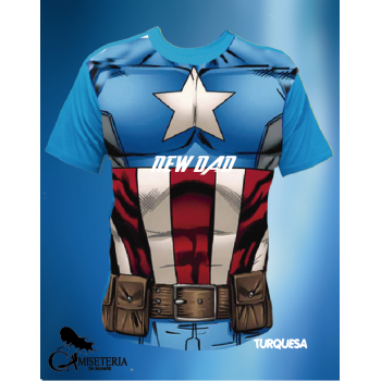 CAMISETA CAPITÃO AMÉRICA NEW DAD