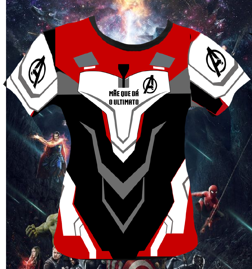 CAMISETA MÃE ULTIMATO - UNIFORME VINGADORES