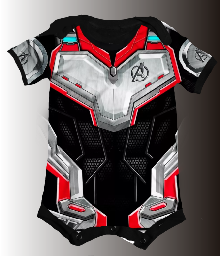 BODY/CAMISETA UNIFORME VINGADORES 3D