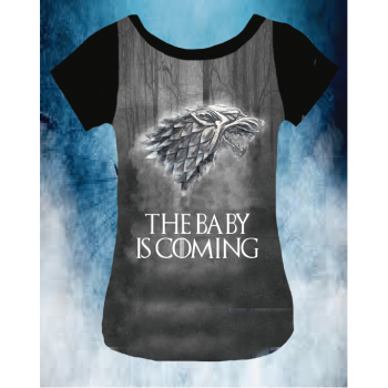 CAMISETA BABY IS COMING