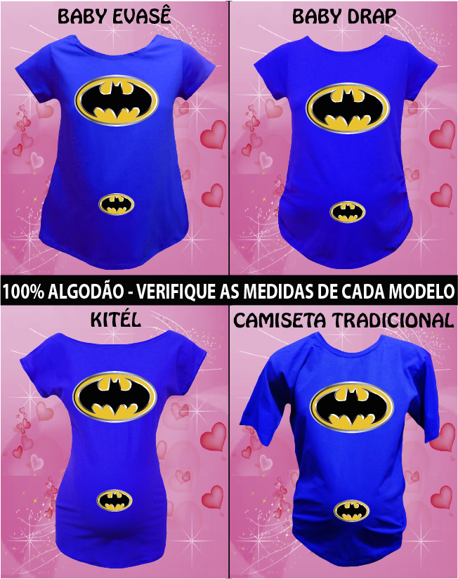 CAMISETA BATMAN e BABY