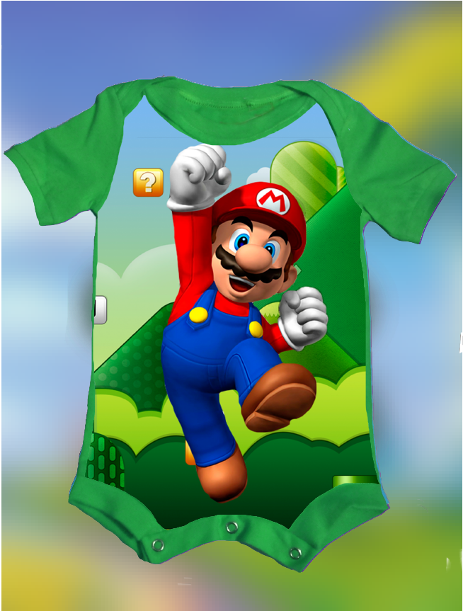 CAMISETA/BODY SUPER MARIO