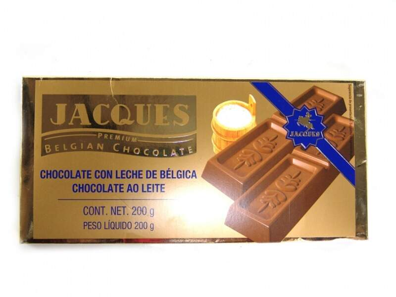 Chocolate Belga ao Leite Jacques 200g.