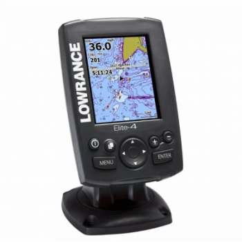 GPS Plotter e Sonda Elite 4 Lowrance Com Base Map e Transducer - [ELITE 4]