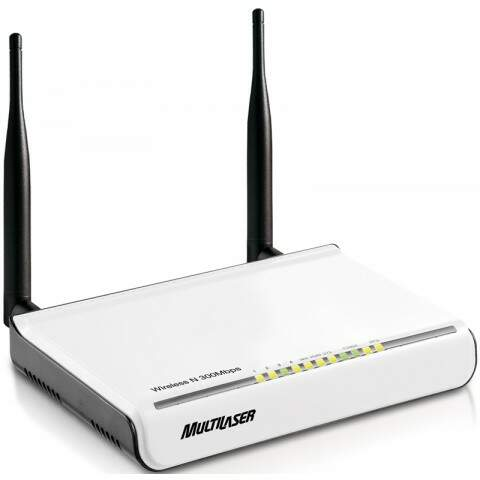 Roteador Wireless Multilaser N 300Mbps 2 Antenas RE040 2,4Ghz