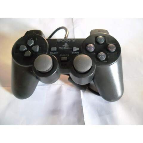 Kit 4 Controles Analógico Para Ps2 Preto Novo Paralelo