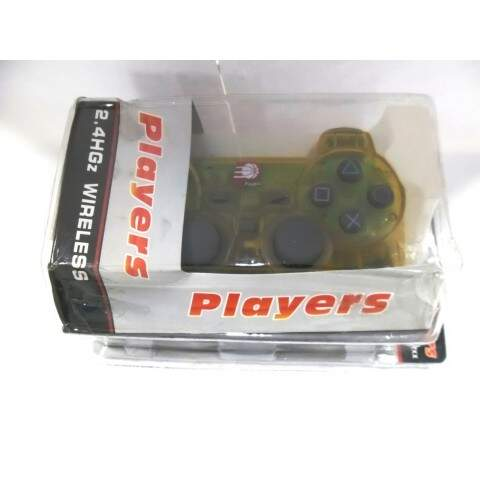Controle Sem Fio 2.4ghz Players P Playstation2 Ps2 Amarelo