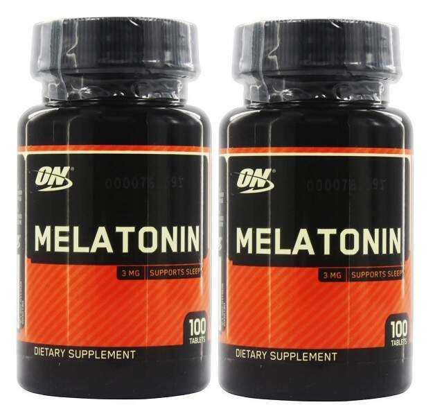 Melatonina 3mg Optimum Nutrition 2 potes  200 comprimidos