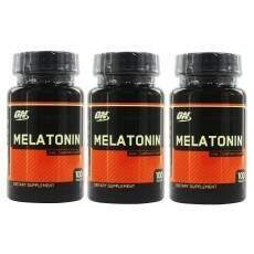 Melatonina 3mg Optimum Nutrition 3 potes 300 cp