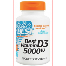 Vitamina D3 5,000 UI 360 Softgels Doctors Best