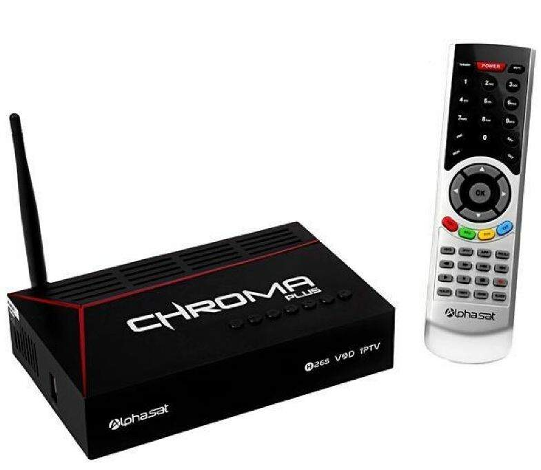 Receptor Alphasat Chroma Plus c/ WIFI