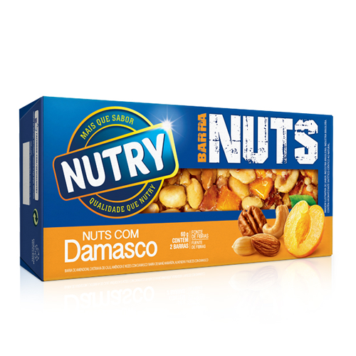 Barra Nuts Damasco 60g