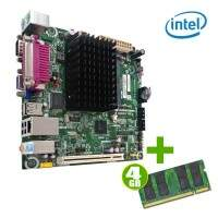 Kit Placa-Mãe Integrada Intel D425KTE MicroATX 4Gb Ddr3