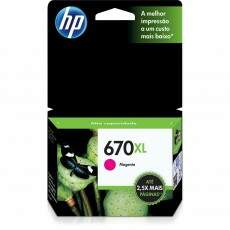 Cartucho de Tinta HP 670XL Magenta CZ119AB Original 8ml