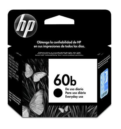 Cartucho de tinta HP 60b Preto | CC636WB EveryDay Original 4,5ml