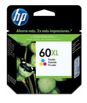 Cartucho de tinta HP 60XL Colorido | CC644WB Alto Rendimento Original 15,5ml