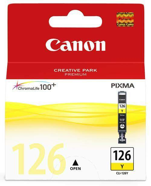 Cartucho de Tinta Canon 126 Amarelo | Cli-126 Ye Original 9ml Elgin| PIXMA IP4810 | IP4910 | IX6510 | MG5210 | MX711