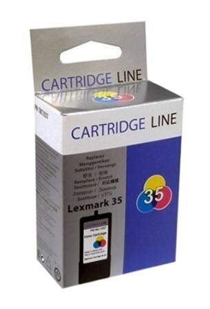 Cartucho de Tinta Lexmark 35 Colorido | 18C0035 Cartridge Line 19ml