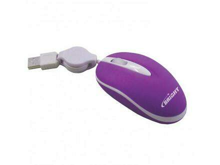 Mini Mouse Brasil Retrátil Roxo USB - Bright