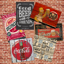 Placas Decorativas Retro Vintage Cerveja Coca Cola Pin Up