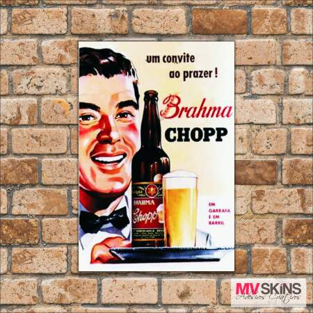 Placa Decorativa Brahma Chopp 2
