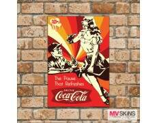 Placa Decorativa The Pause That Refreshes Drink Coca-Cola
