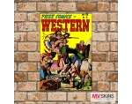 Placa Decorativa Prize Comics Western