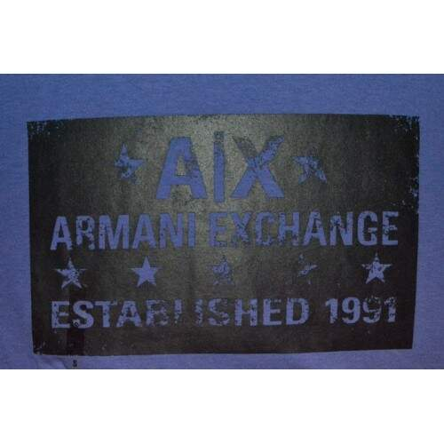 Camiseta - Armani Exchange - Azul Established 1991